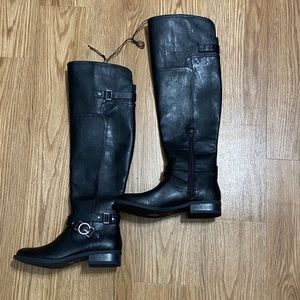 Guess over the knee black boots